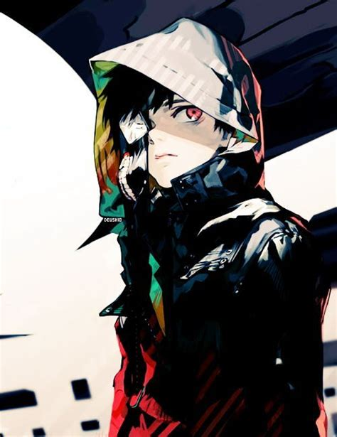 kaneki ken main character of tokyo ghoul in a cool