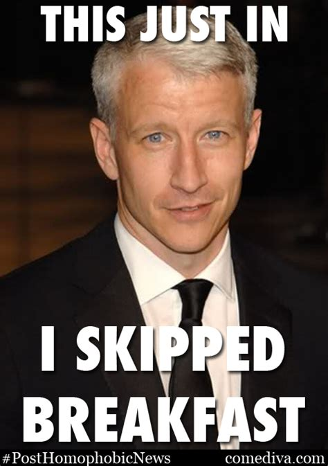 Anderson Cooper Meme - this just in anderson cooper likes cheese comediva