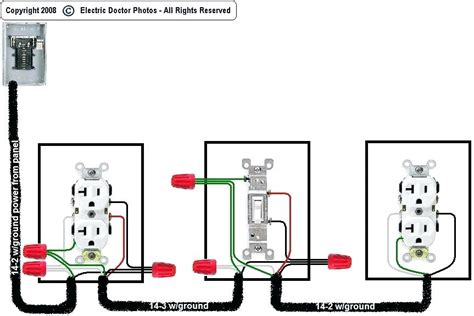 wire a light switch diagram with outlet wiring diagram