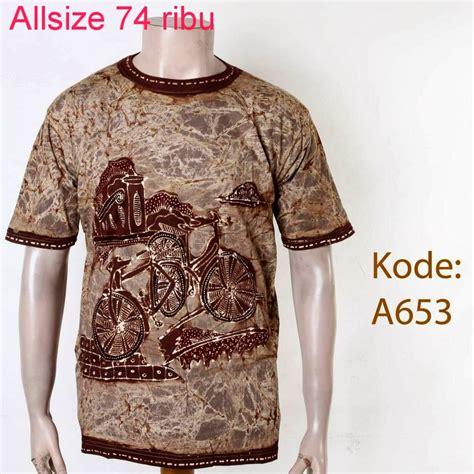 Baju Batik Km 653 baju kaos batik untuk cowok model batik model baju batik
