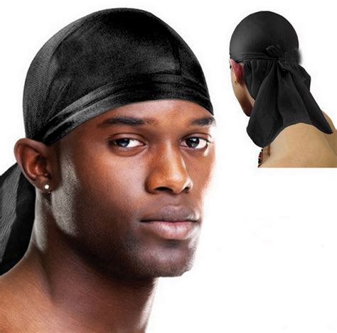 How To Wear A Dew Rag With Short Hair | hiphop head wrap tie back bandana doo rag hat pirate scarf