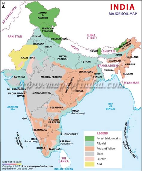 kinds of maps major soil types of india