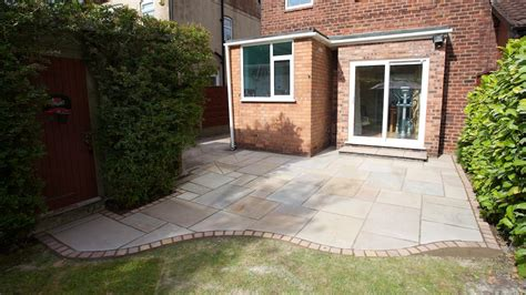 New Indian Stone Patio Completed In Mile End Stockport Indian Patio Design