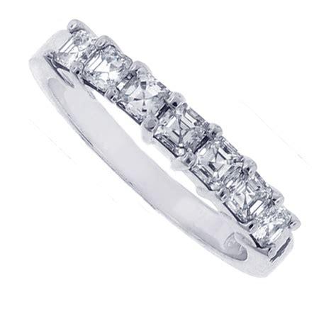 Wedding Bands Dc by Platinum Asscher Cut Wedding Band Ring Washington Dc