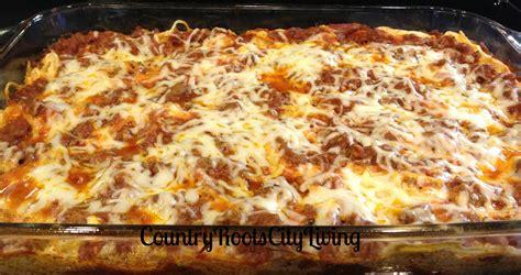creamy spaghetti casserole kokoa magazine