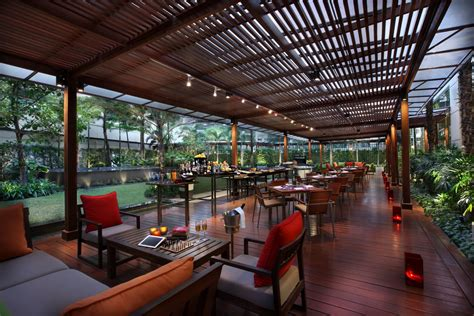 Patio Restaurant Bangkok by The Garden Lounge Unveiled Marriott Executive Apartments