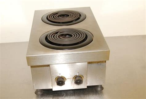 Countertop Stove Electric by Hobart 2 Burner Electric Countertop Range Ebay