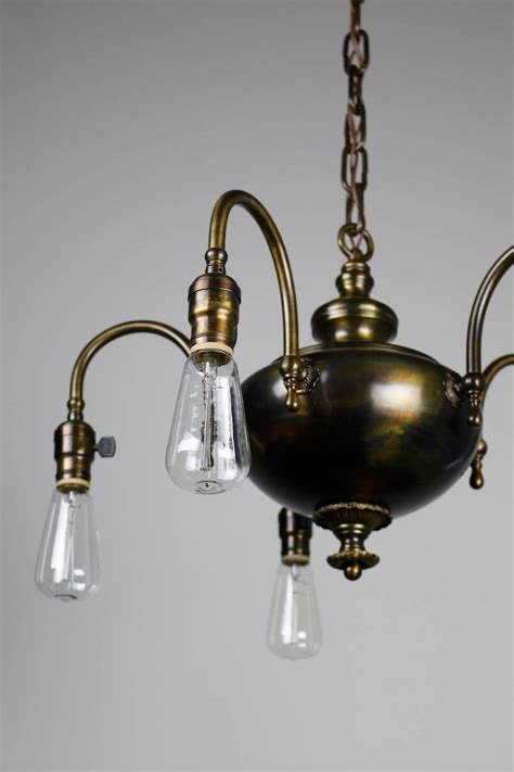 Arts And Crafts Light Fixture 1920s Arts And Crafts Fixture Five Light For Sale At 1stdibs
