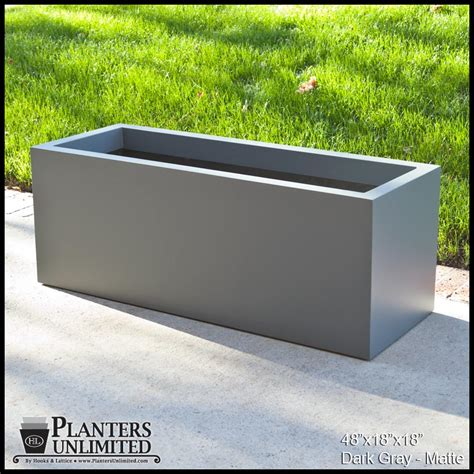 modern rectangle planter 60in l x 16in w x 16in h