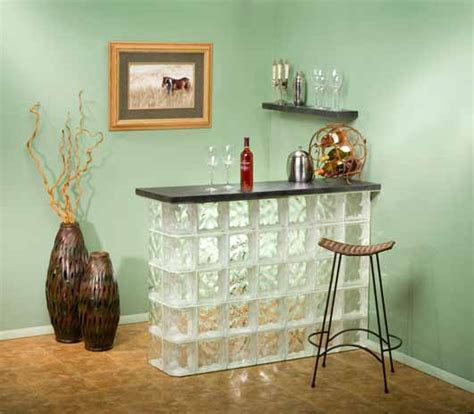 Home Bar Project Summer S Arrival Creates Great Diy Glass Block Project