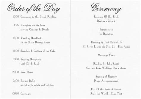 civil ceremony order of service search wedding ideas exles wedding