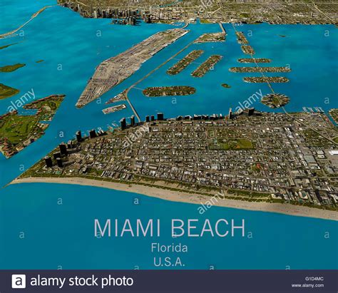 map view miami map satellite view aerial view florida united