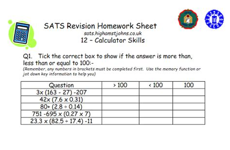 Sats Revision Homework Sheets by 6 Of The Best Sats Revision Resources For Ks2 Maths
