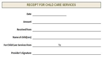 receipt for child care services template exle of babysitting receipt studio design gallery