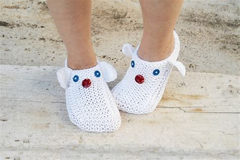 white house slippers white knit slippers funny animals slippers house slippers unisex on luulla