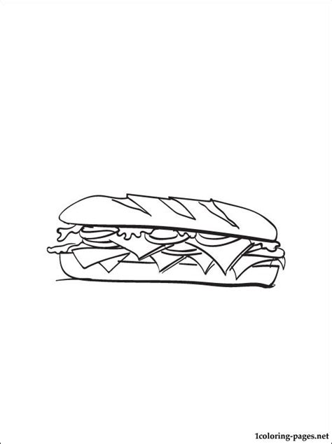 Free Coloring Pages Of Sandwich Sandwich Coloring Pages