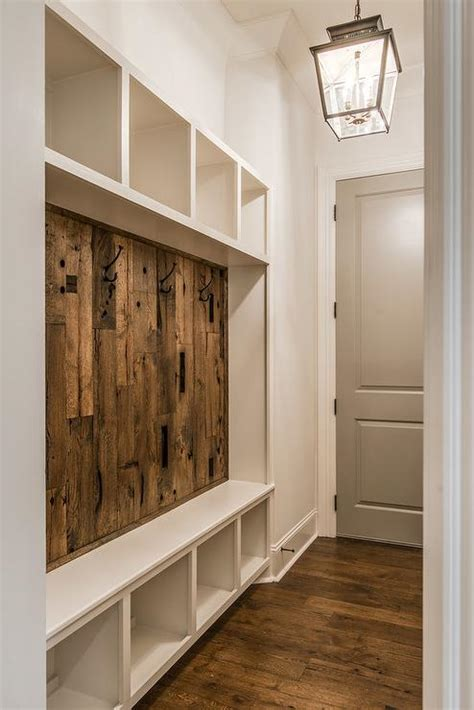 mudroom bench rustic mudroom with barn board backsplash cottage laundry room