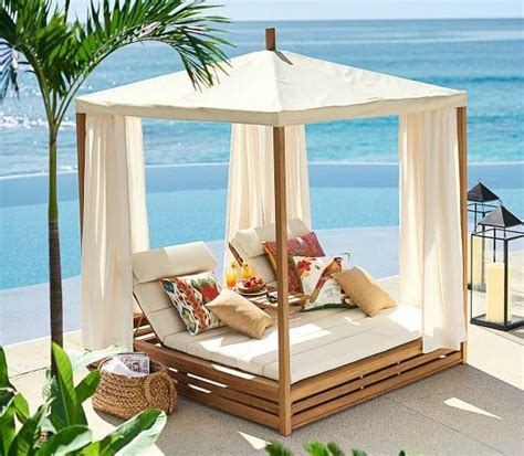 cabana bed bring a beach cabana to the backyard for the ultimate