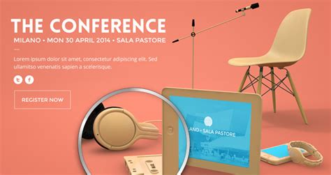 Psd Conference Website Template Psd Web Templates Pixeden Conference Website Template Free