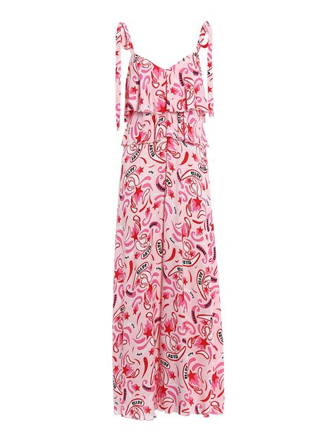 Zizza Maxi Ori Dres Burberry Cantik viscose flounced dress by dondup maxi dresses ikrix