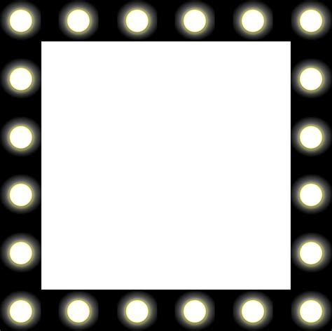 mirror with light border free vector graphic mirror lights backstage black