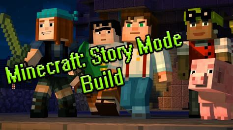 minecraft story mode minecraft story mode statue build youtube