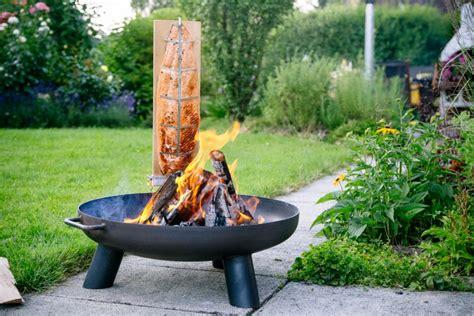 feuerschale sale flammlachsbretter set mit feuerschale kaufen bei