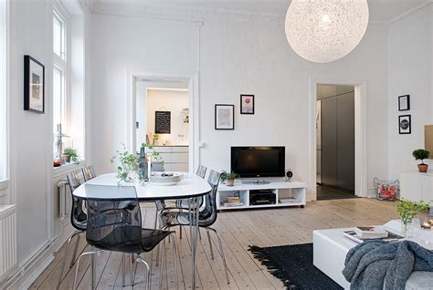 Bench Dining Room Table Set by Swedish Apartment Boasts Exciting Mix Of Old And New