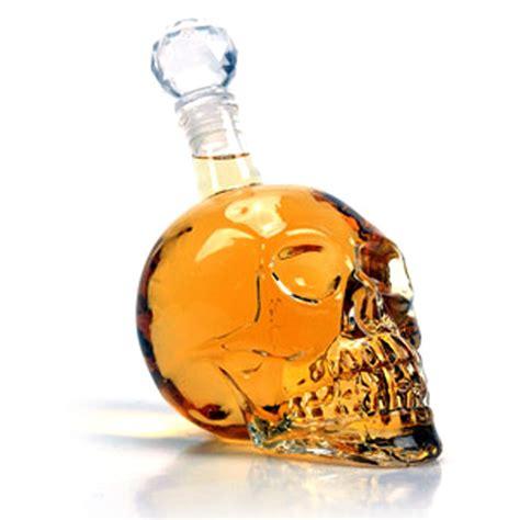 skull barware skull barware glass bottle uno company