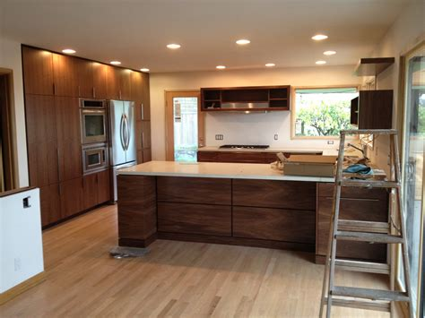 walnut kitchen cabinet refacing as economical friendly solution my