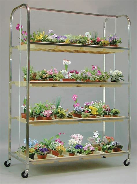 ga lite cart  ft  shelf plant stand grow lights