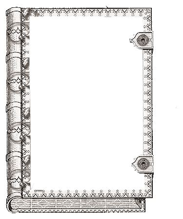 printable book frame / cover art. could be used as a