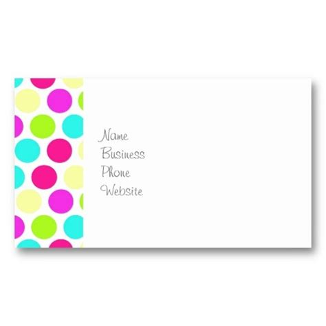 polka dot business card template 147 best business cards images on business