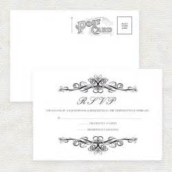 Rsvp Postcard Template by Wedding Rsvp Postcard Templates Free Wedding Invitation