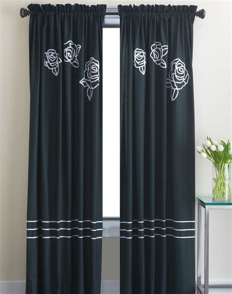 black window curtains modern black curtain decorating ideas room decorating