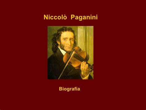 niccolo paganini biografia