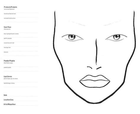 61 Best Images About Make Up Templates On Pinterest Business Card Templates Mac Makeup And Makeup Chart Template