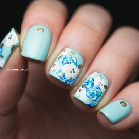 gel nail designs for middle aged women wedding nail art tutorial something blue