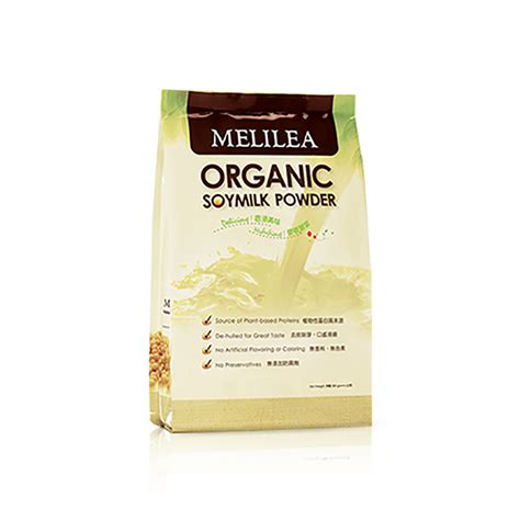 Scrub Melilea melilea organic soy milk powder i today