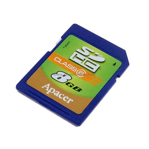 Memory Card Apacer 8gb apacer 8gb sd sdhc memory card class 6 high speed free shipping dealextreme