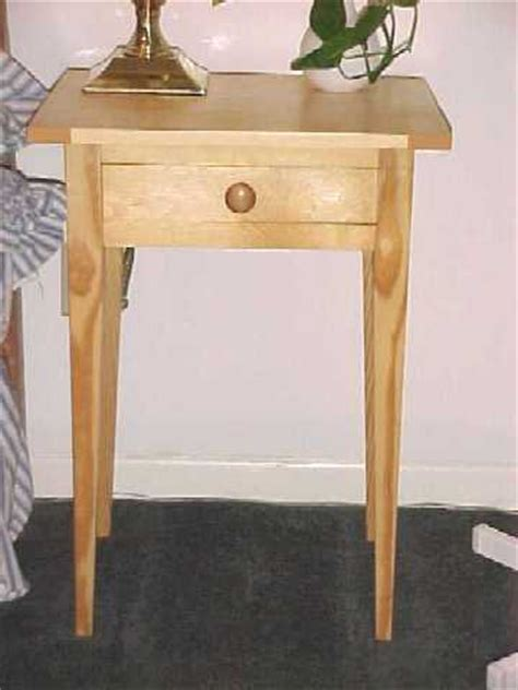 Shaker End Table Plans by Shaker Style Pine Side Tables
