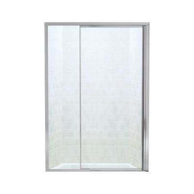Sterling Glass Shower Doors by Sterling Vista Ii 48 In X 65 1 2 In Framed Pivot Shower Door In Silver With Smooth Clear Glass