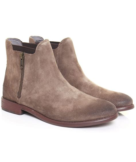 h by hudson taupe algoma suede boots jules b