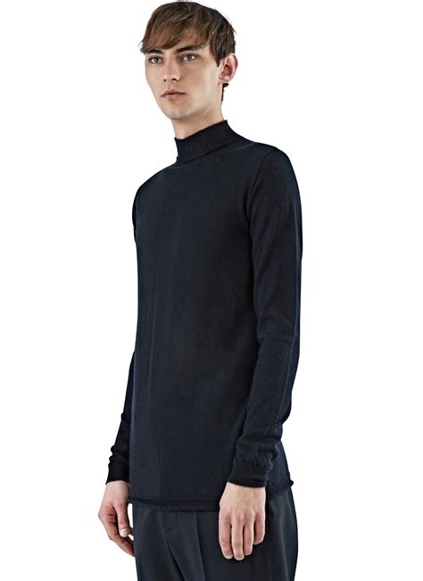 Rik Black lyst rick owens s level lupetto sweater in black in black for