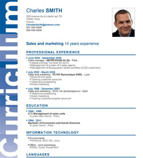 A Professional Curriculum Vitae by A Superb Cv Layout For Your Cv