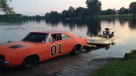 boat car joke quot no joke quot hydroplane gets pulled by pro street general lee