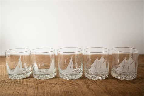 Frosted Bar Glasses Frosted True Whisky Blue Nose Bar Glasses Nautical