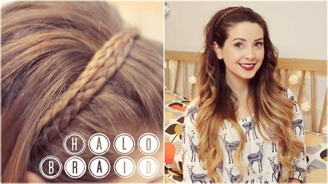 easy hairstyles zoella how to halo braid zoella youtube