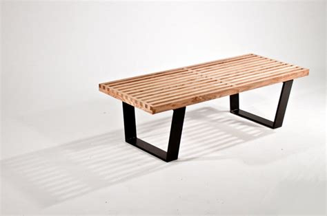 modern indoor benches nelson inspired bench modern indoor benches san