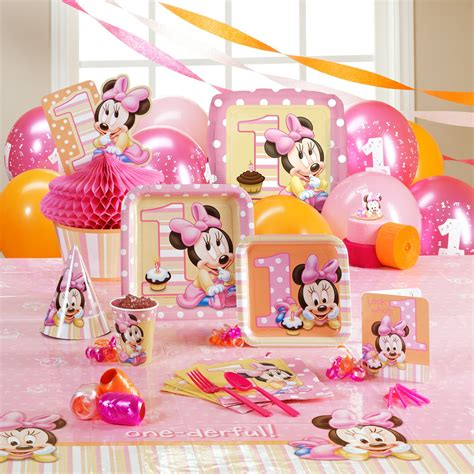 1st Birthday Decorations Minnie Mouse by Minnie Mouse 1st Birthday Ph D Serts Cakes